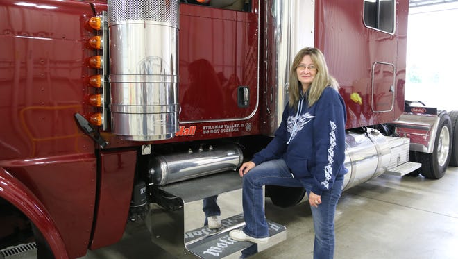 Suzie Helgerson of New London is the first deaf woman in Wisconsin to receive a commercial license to become a truck driver.
