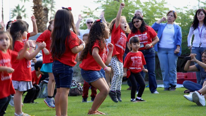 Students in the Early Childhood Education program participate in Desert Sands Unified School District's community day on Nov. 20.