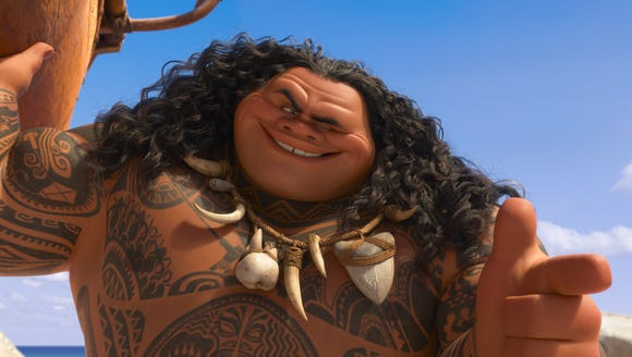 Dwayne Johnson voices the cocky demigod Maui in the