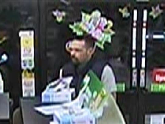 Police released this photo of the 7-Eleven robbery suspect.