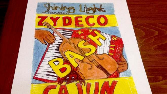 Poster for the Shining Light Foundation's first Zydeco & Cajun music fundraiser.