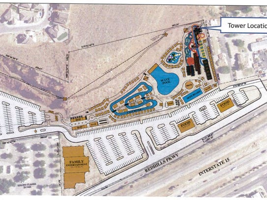 A site plan map shows the proposed location of a new