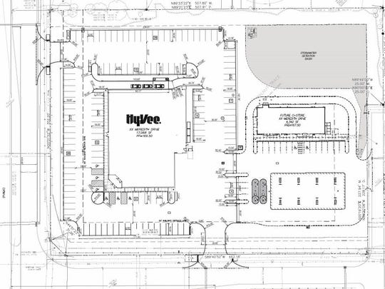 The proposed Hy-Vee Inc. grocery and health market will eventually include a convenience store.