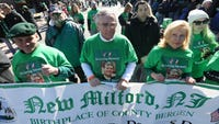 Our group marched in the St. Patrick's parade in Bergenfield and were lauded with love and sympathy.