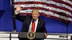 President Trump speaks at Snap-On Tools in Kenosha,