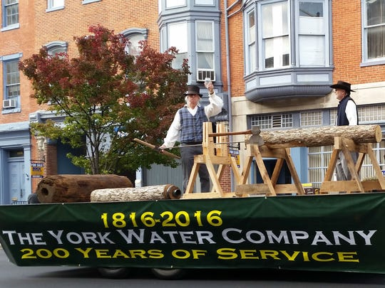 The York Water Company's float, commemorating its 200th