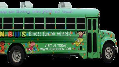 The outdoor event in the parking lot of Sacred Heart Church will feature the Fun Bus outfitted for kids exercises