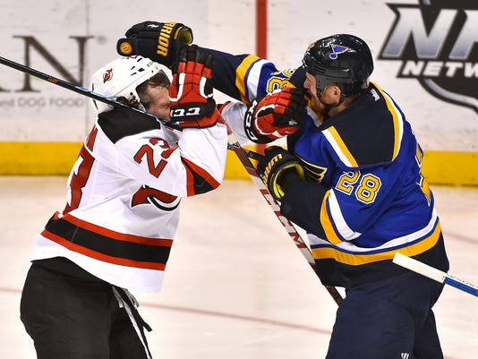 USP NHL: NEW JERSEY DEVILS AT ST. LOUIS BLUES S HKN USA MO