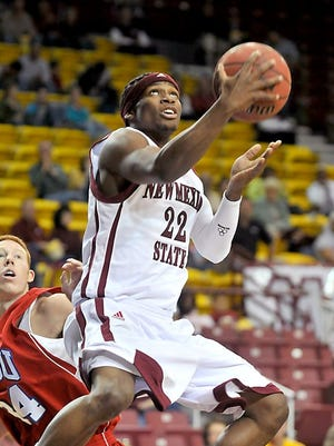 Former New Mexico State guard Jonathan Gibson has signed a three-deal year with the Dallas Mavericks.
