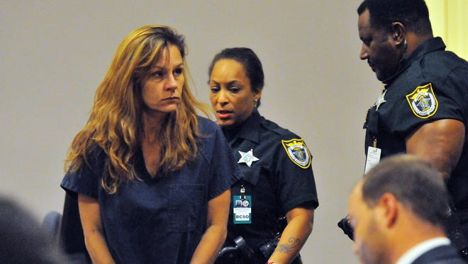 Mary Derossett appears in a Viera courtroom on Thursday, Sept. 17, 2015.
