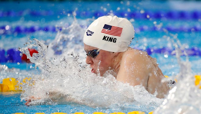 Lilly King of the United States competes in his preliminary heat of the 50m Breast Stroke  on day one of the 13th FINA World Swimming Championships (25m) at the WFCU Centre on December 6, 2016 in Windsor Ontario, Canada.