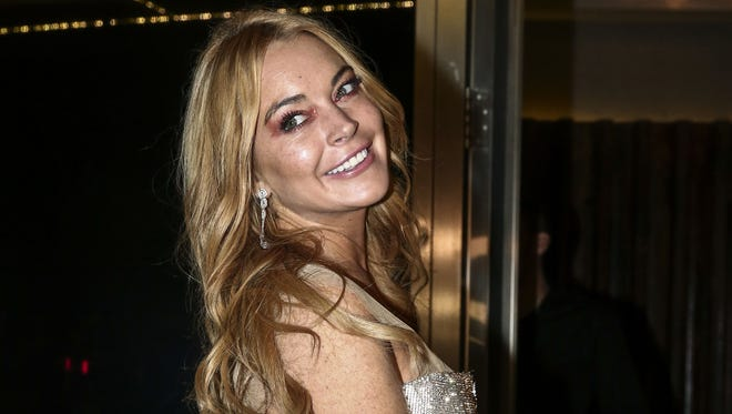 Lindsay Lohan attends the opening of her Lohan Nightclub in Athens, Greece.