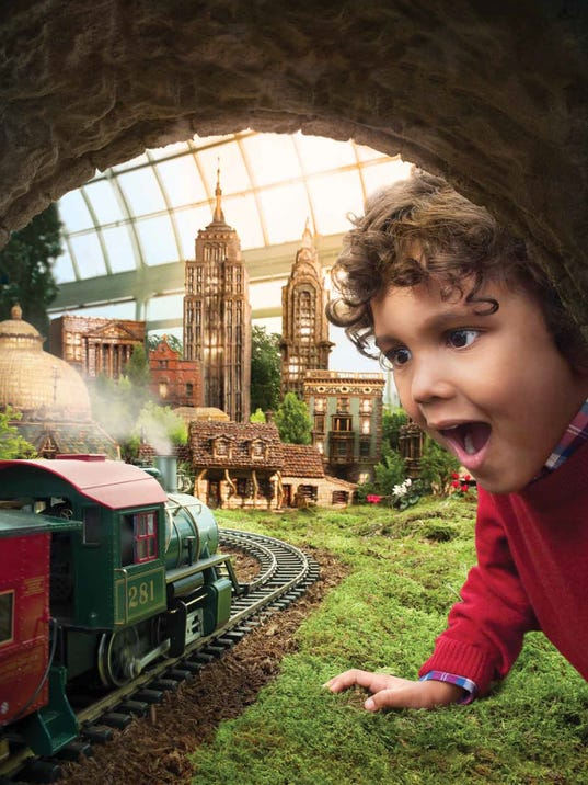 10 things to do with kids over winter break 2016 for Ny botanical gardens train show