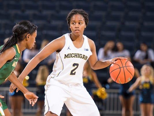 Michigan's Siera Thompson, women's basketball