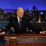 "David Letterman appears during a taping of his final ""Late Show with David Letterman"" on Wednesday, May 20, 2015 at the Ed Sullivan Theater in New York."