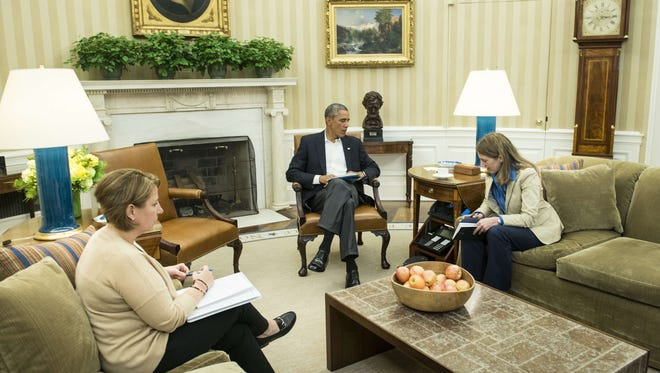 President Obama met with aides Oct. 13 on Ebola.