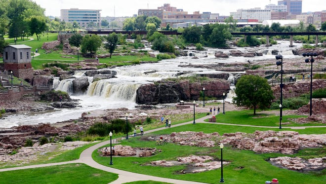 Argus Leader Photographer Sam Caravana captures Falls Park from the visitor's tower.