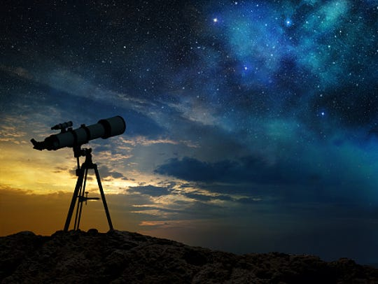 View the night sky from telescopes in front of Glendale