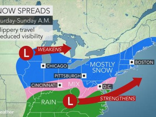 Snow is expected to fall in the Lower Hudson Valley