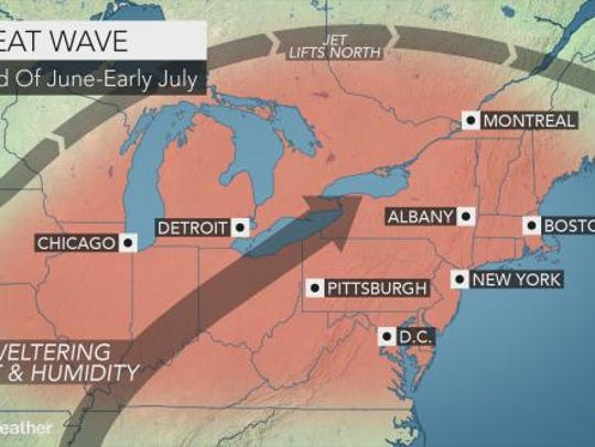 York County will see sweltering heat and humidity during