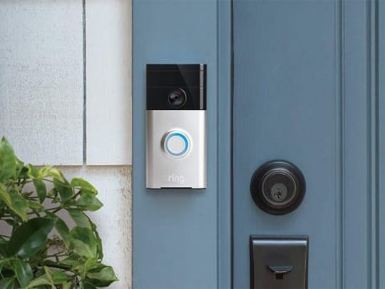 The Ring Video Doorbell lets you hear, see, and talk to anyone at your front door.