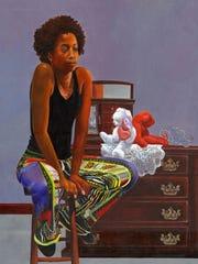 Portrait of a Princess, oil on canvas, 2016
