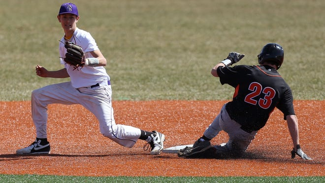 Anderson's Connor Wheeldon stole second base against Campbell County April 1 of last year in Highland Heights, KY.