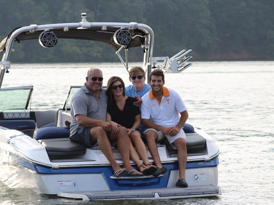 """From left are Jason, Jennifer, Hunter and Taylor Varney of DOCK & DECK, a Knoxville business that is being featured on DIY Network's show, """"Docked Out."""""""