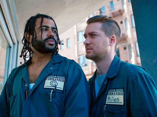 "Daveed Diggs (left) and Rafael Casal co-wrote and star in ""Blindspotting."""