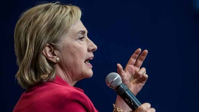 Hillary Clinton speaks in Greenville, S.C., on July 23, 2015.