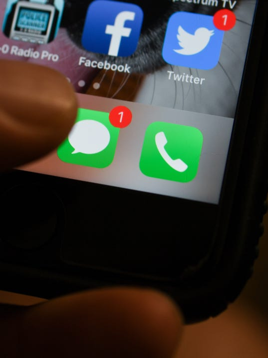 Texting social media iPhone illustration