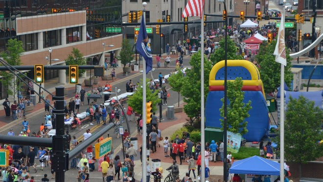 An estimated 10,000 attended the National Cereal Festival in downtown Battle Creek on June 9, 2018.