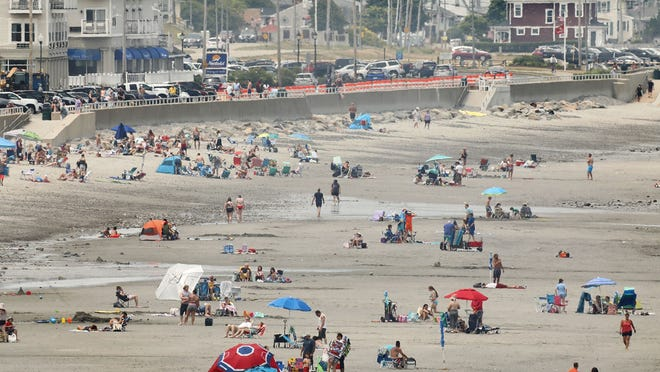 A nice day for the beach in Hull at Nantasket Beach with social distancing on Sunday June 28,  2020 Greg Derr/The Patriot Ledger
