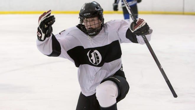Pete Verstegen was the leading scorer for the Ice Hawks last year and returns for his senior season.