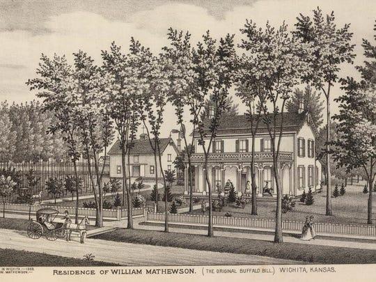 The William Mathewson home in early Wichita, Kansas,