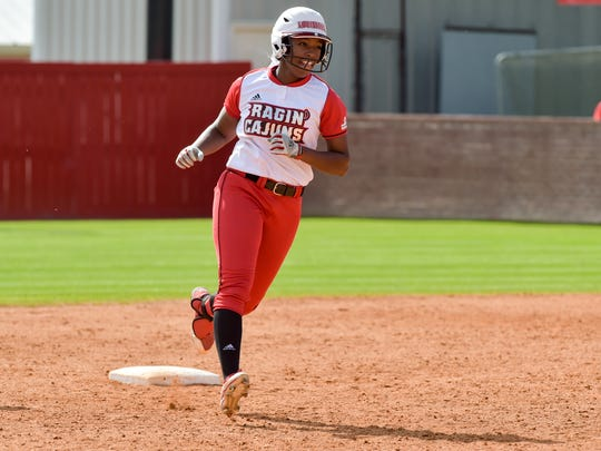UL's Aleah Craighton hits a walk-off home run to lead the Ragin' Cajuns to a 6-5 win in game one Sunday at Lamson Park.