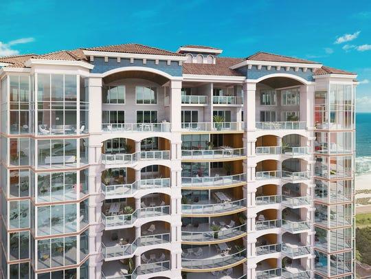 Rendering of new sixth tower at Portofino Island Resort