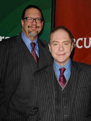 Penn & Teller, shown here during a recent NBC event, stopped in San Francisco to be honored for their art form and spoke with USA TODAY about the impact of technology on magic.