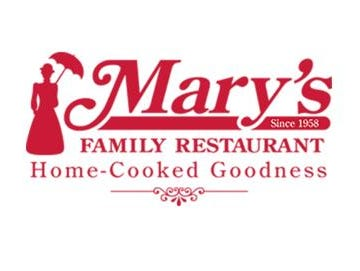 Get a 20% off your guest check coupon of $20 or more purchase at Mary's Family Restaurant.