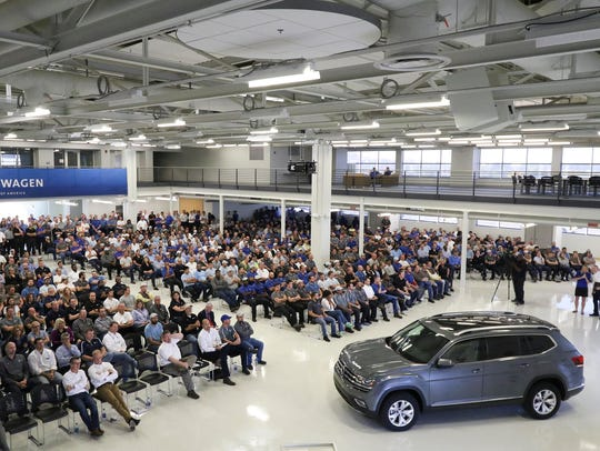 Volkswagen unveils a new vehicle in Chattanooga in