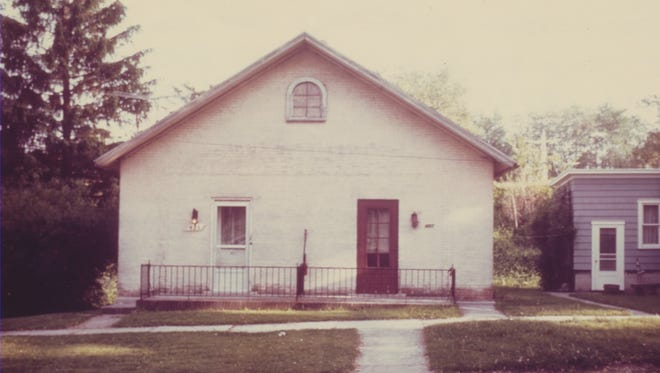 The little brick building once served as a school.
