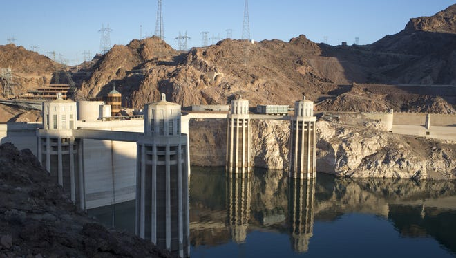 The Hoover Dam as seen in June 2015.
