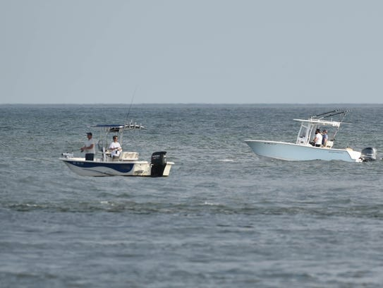 Boats at the Inlet in Ocean City on Wednesday, May