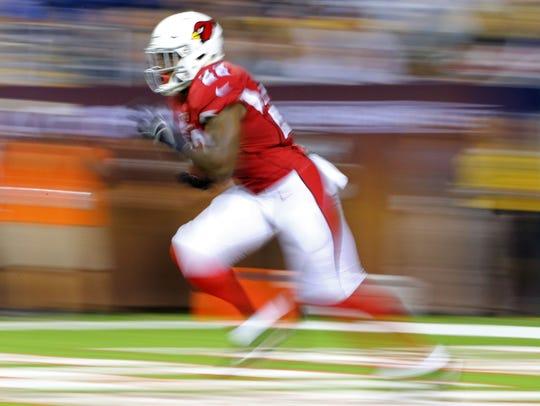 Aug 3, 2017; Canton, OH, USA; Arizona Cardinals running
