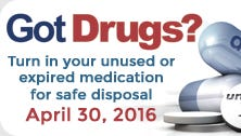 You can turn in no-longer-needed prescription drugs from 10 a.m. to 2 p.m. Saturday at the Alexandria Police Department, 1000 Bolton Ave.