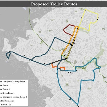 The city of Greenville is proposing expanded trolley