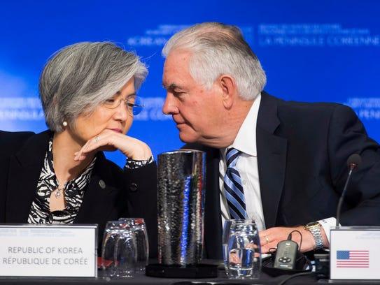 United States Secretary of State Rex Tillerson speaks