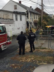 Police respond to a fire at 538 Arnold St., Lebanon,