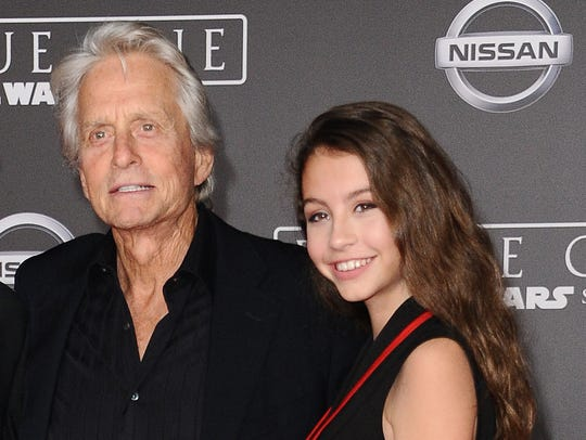 Michael Douglas and daughter Carys Zeta Douglas attend