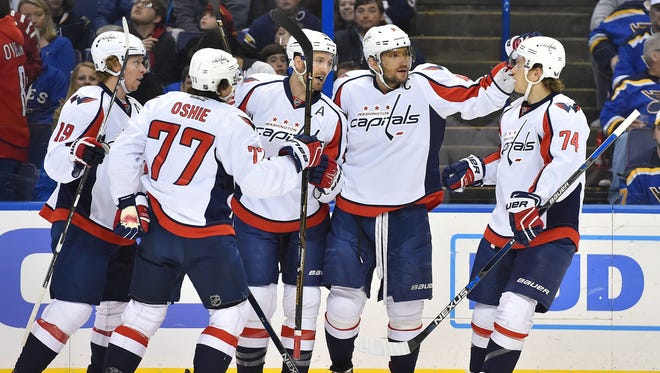 The Washington Capitals won the Presidents' Trophy with 120 points.